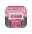 Pink retro radio icon vector