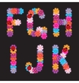 Letters of flowers vector