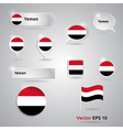 Yemen icon set of flags vector