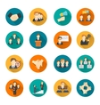 Teamwork flat buttons vector