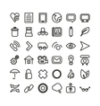 Web line icon set thin icons vector