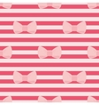Tile pattern with pastel pink bows on a red strips vector