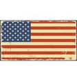American grunge flags vector