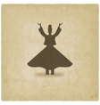 Dervish dancer old background vector