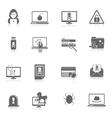 Hacker icons black vector