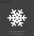 Snowflake premium icon white on dark background vector