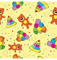 A variety of childrens toys vector