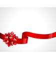 Ribbon and bow background vector
