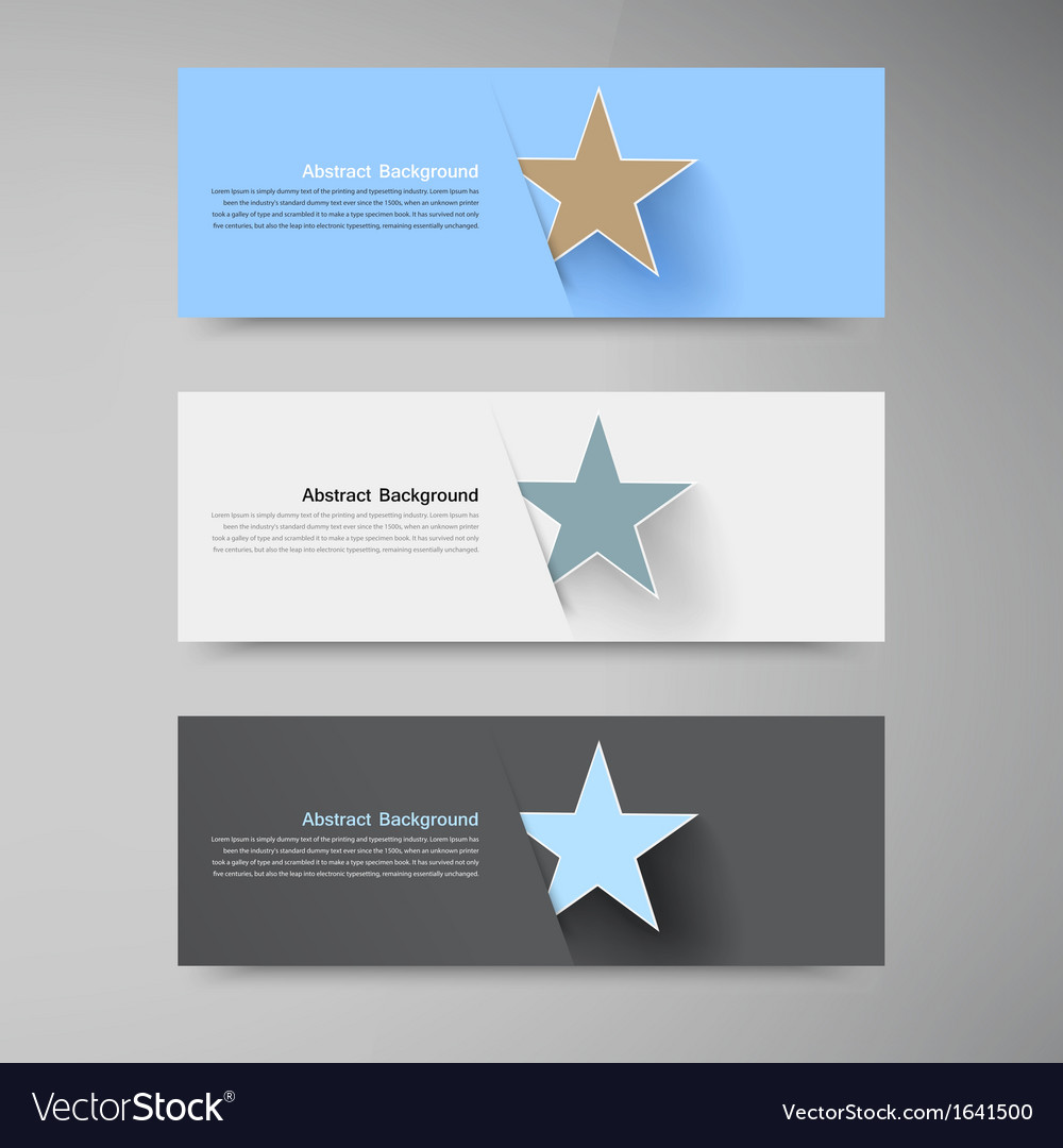 Banner background white star vector | Price: 1 Credit (USD $1)