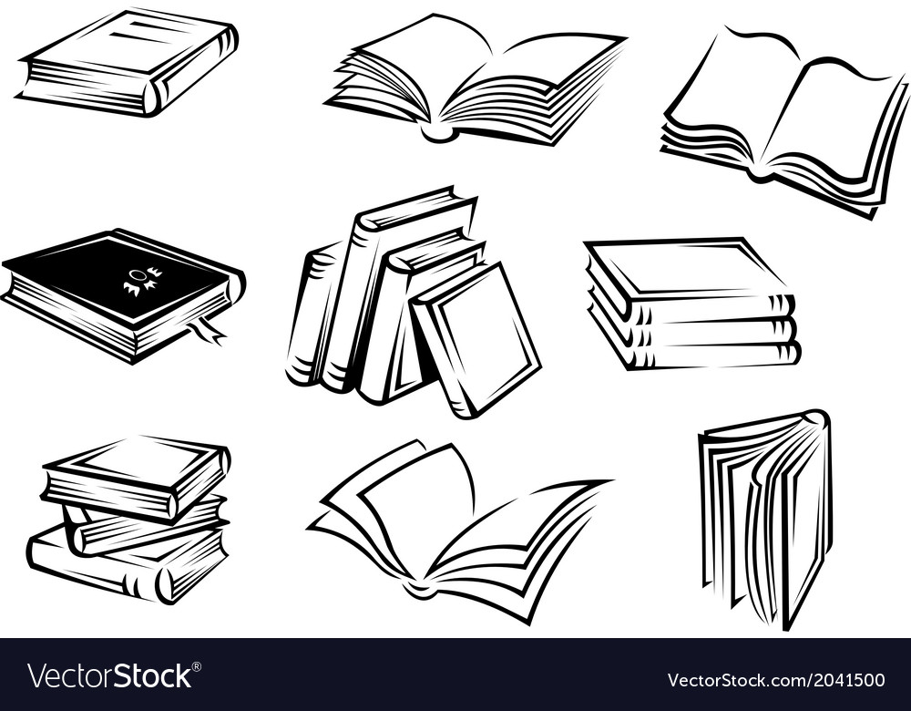 Books and magazines vector | Price: 1 Credit (USD $1)