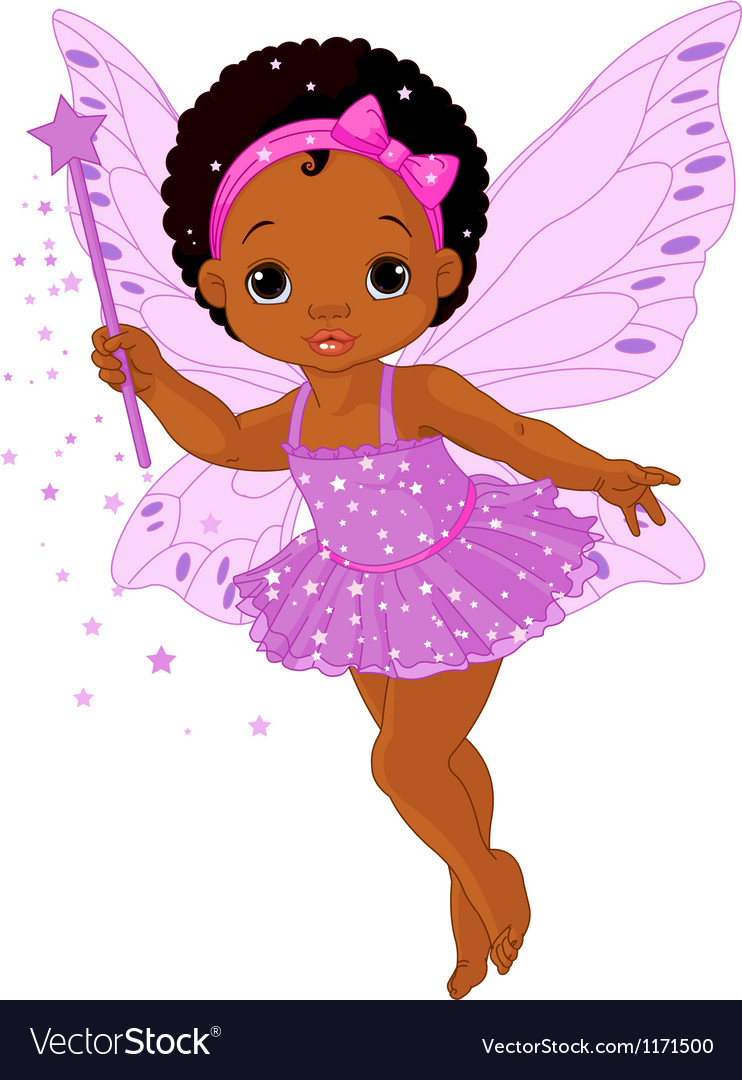 Cute little baby fairy vector | Price: 1 Credit (USD $1)