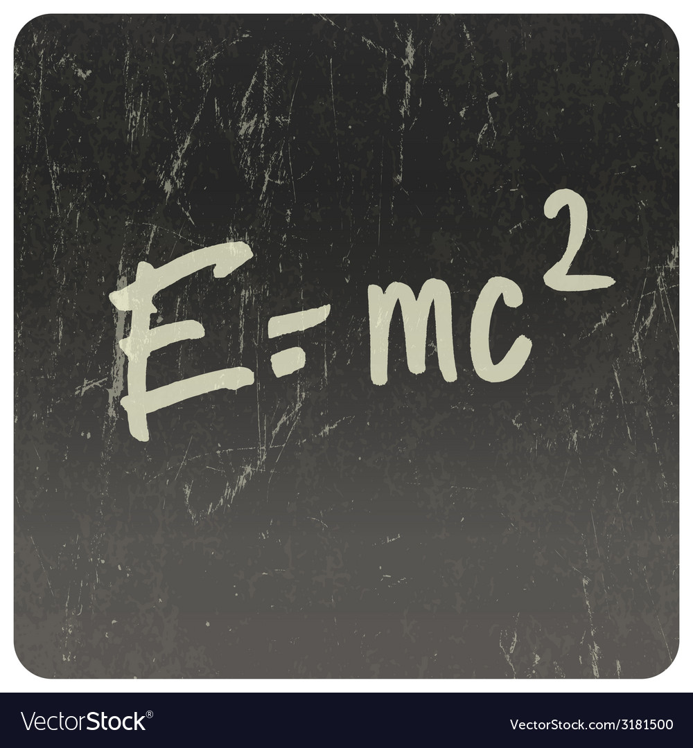 Einstein formula vector | Price: 1 Credit (USD $1)