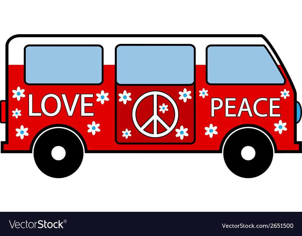Hippie minibus vector | Price: 1 Credit (USD $1)