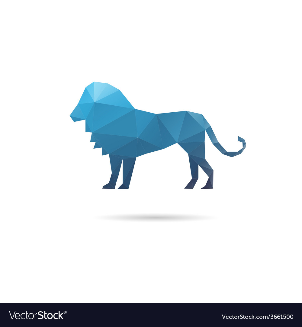 Lion abstract isolated vector