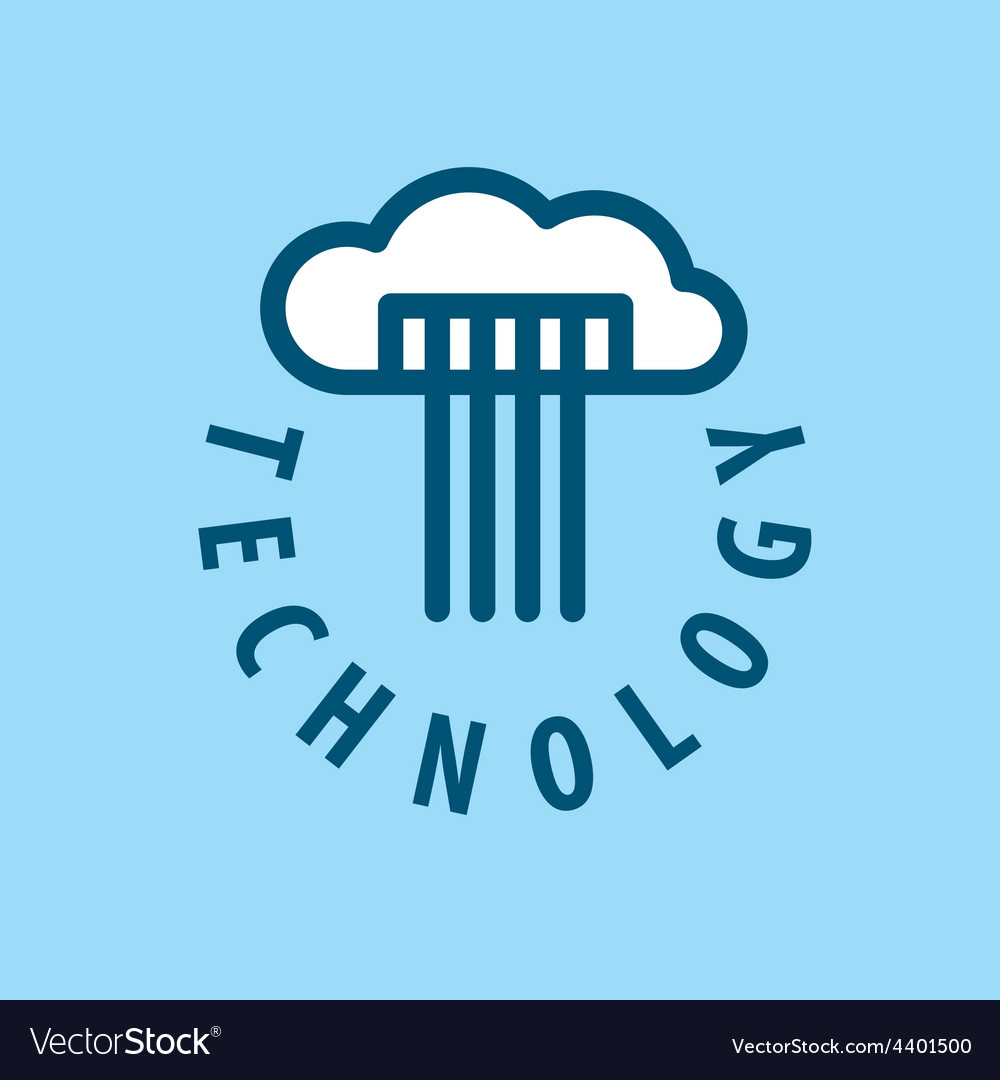 Logo cloud storage files vector | Price: 1 Credit (USD $1)