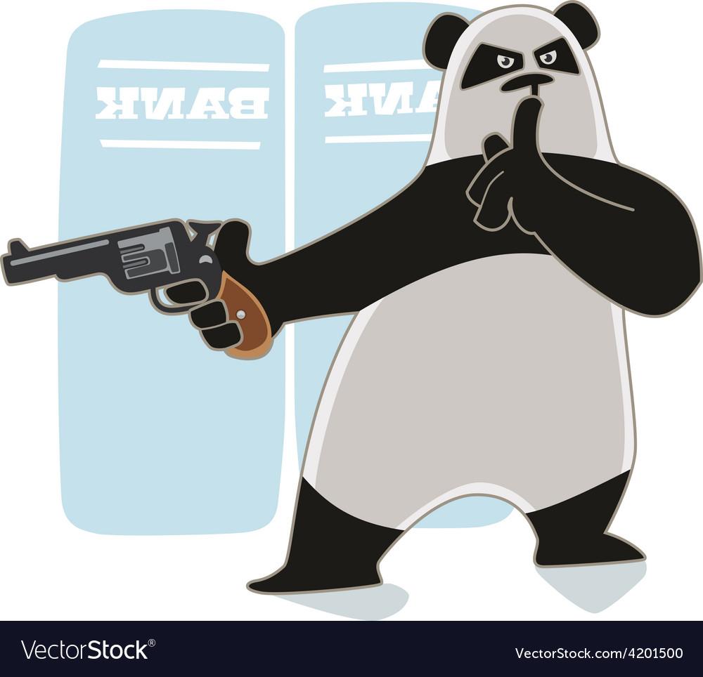 Panda with a gun vector | Price: 1 Credit (USD $1)