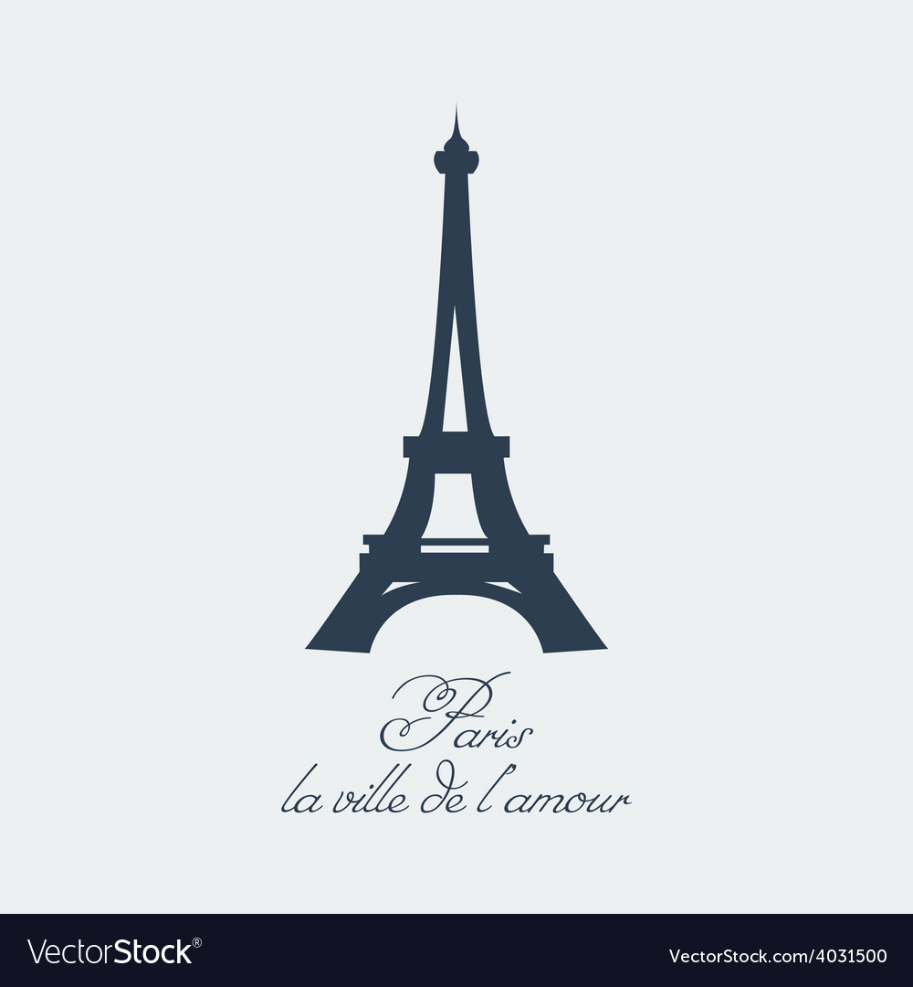 Paris eiffel tower vector | Price: 1 Credit (USD $1)