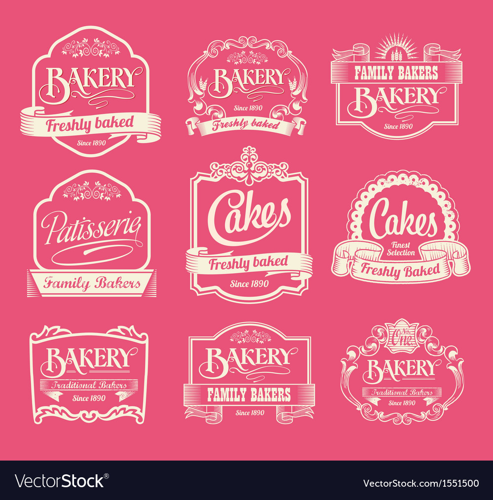 Set of label design elements vector | Price: 1 Credit (USD $1)