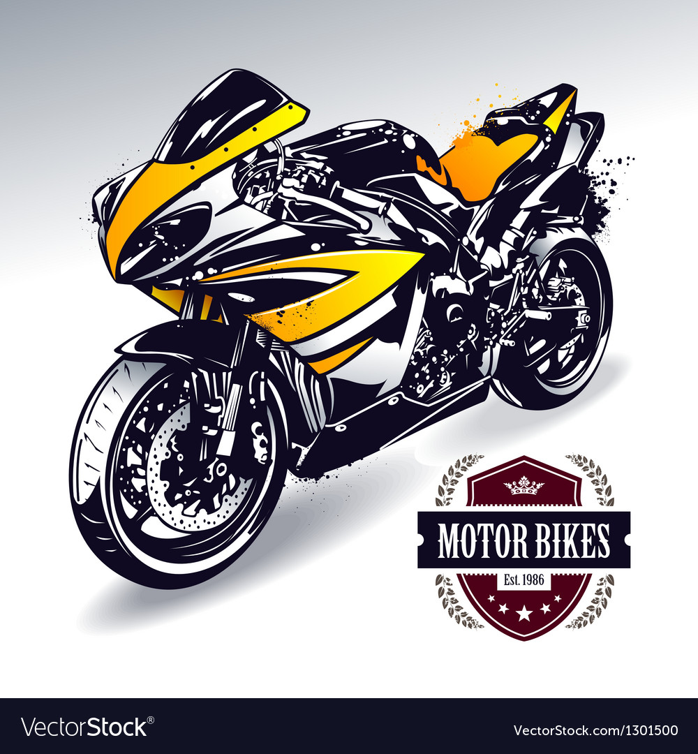 Sport motorbike vector | Price: 1 Credit (USD $1)