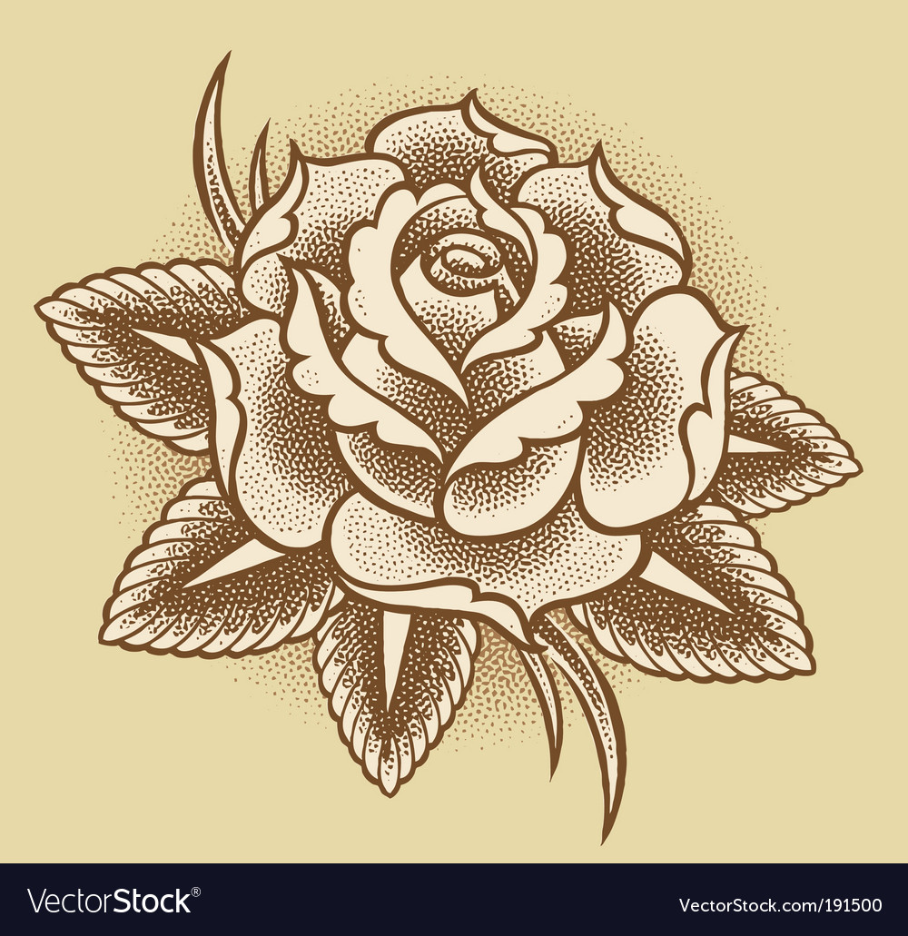Stippled rose vector | Price: 1 Credit (USD $1)