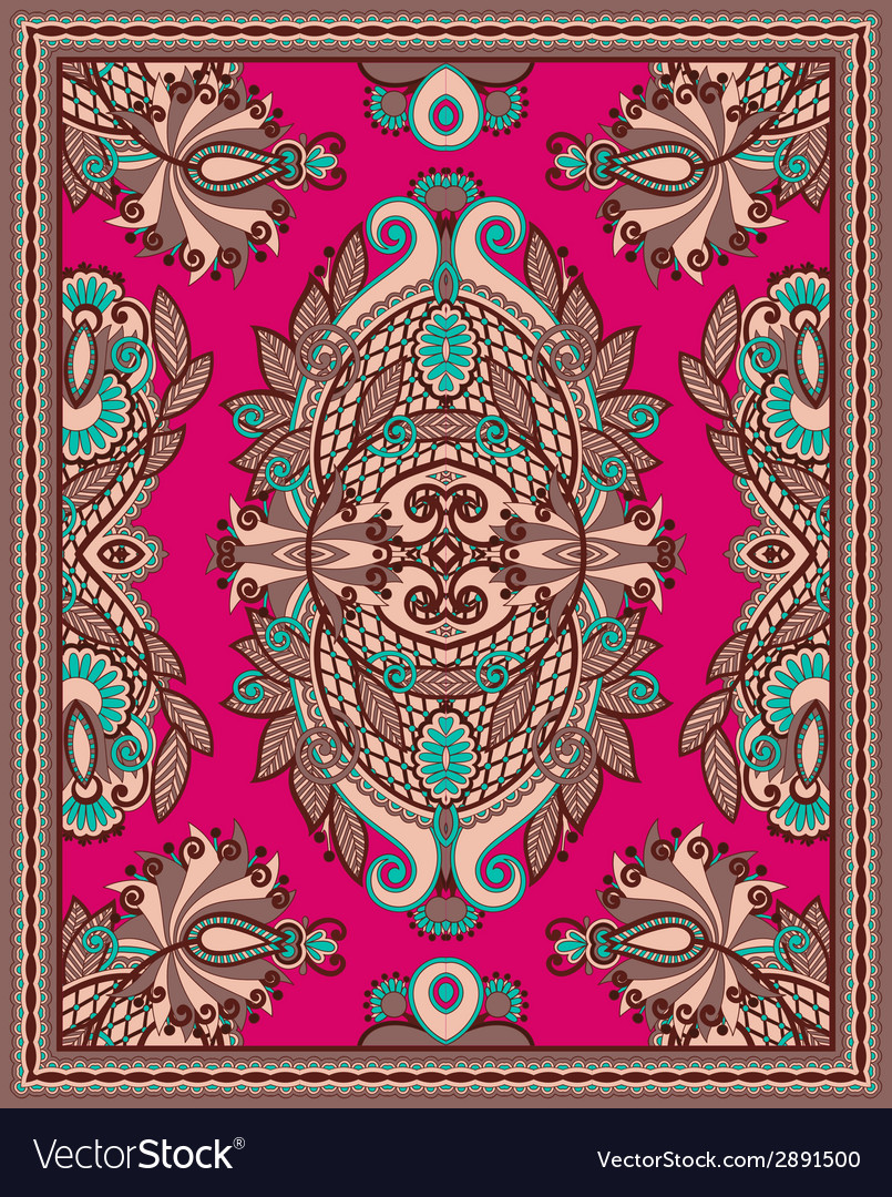 Ukrainian oriental floral ornamental seamless vector | Price: 1 Credit (USD $1)