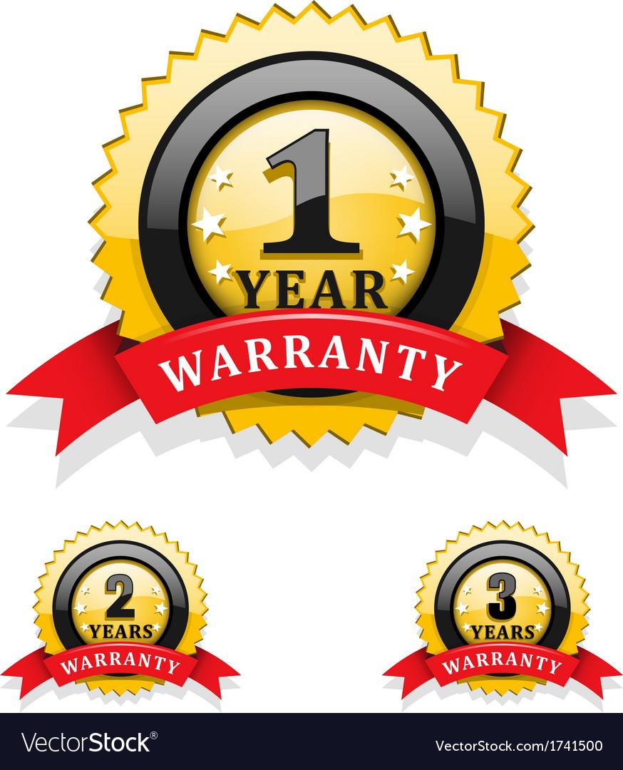 Warranty emblems vector | Price: 1 Credit (USD $1)