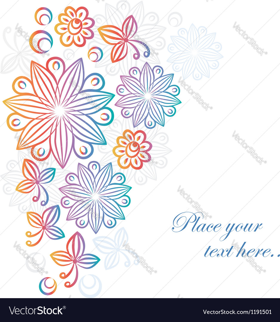 Abstract floral background vector | Price:  Credit (USD $)