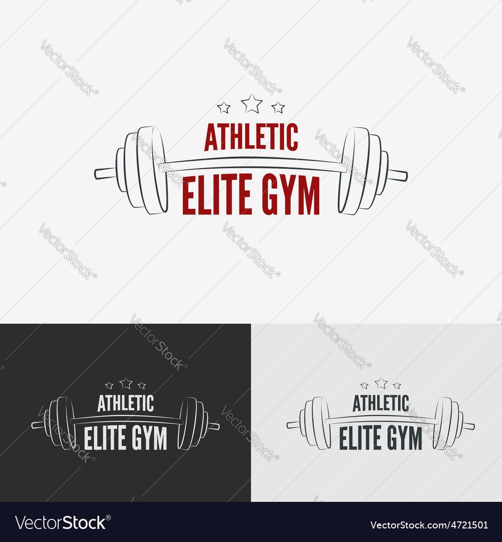 Athletic gym logo concept vector   Price: 1 Credit (USD $1)