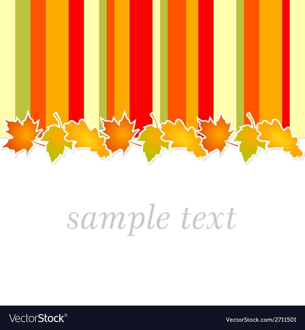 Autumn greeting card vector | Price: 1 Credit (USD $1)
