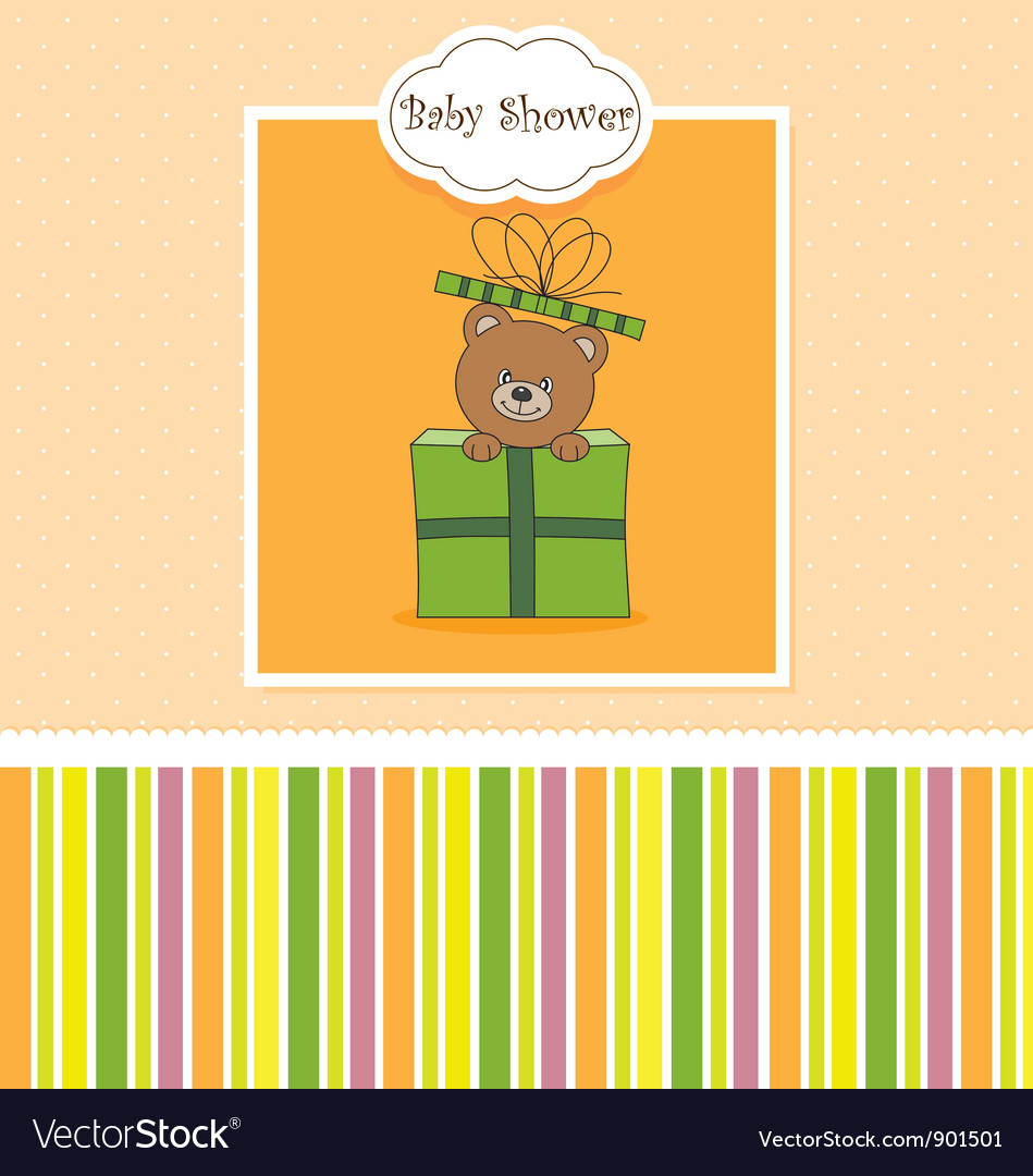 Bear in a gift package vector | Price: 1 Credit (USD $1)
