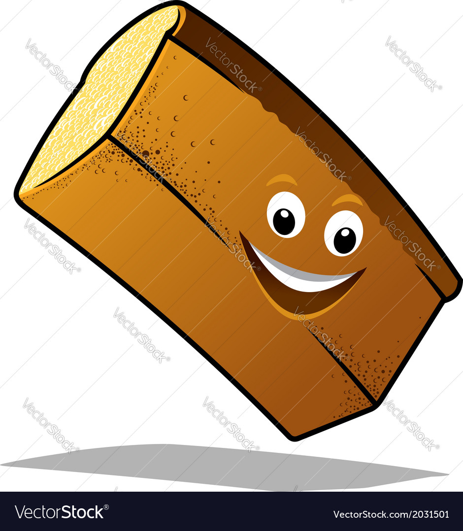 Bouncing happy loaf of fresh bread vector | Price: 1 Credit (USD $1)