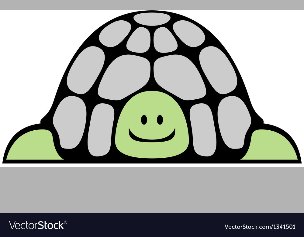 Cheerful turtle vector | Price: 1 Credit (USD $1)