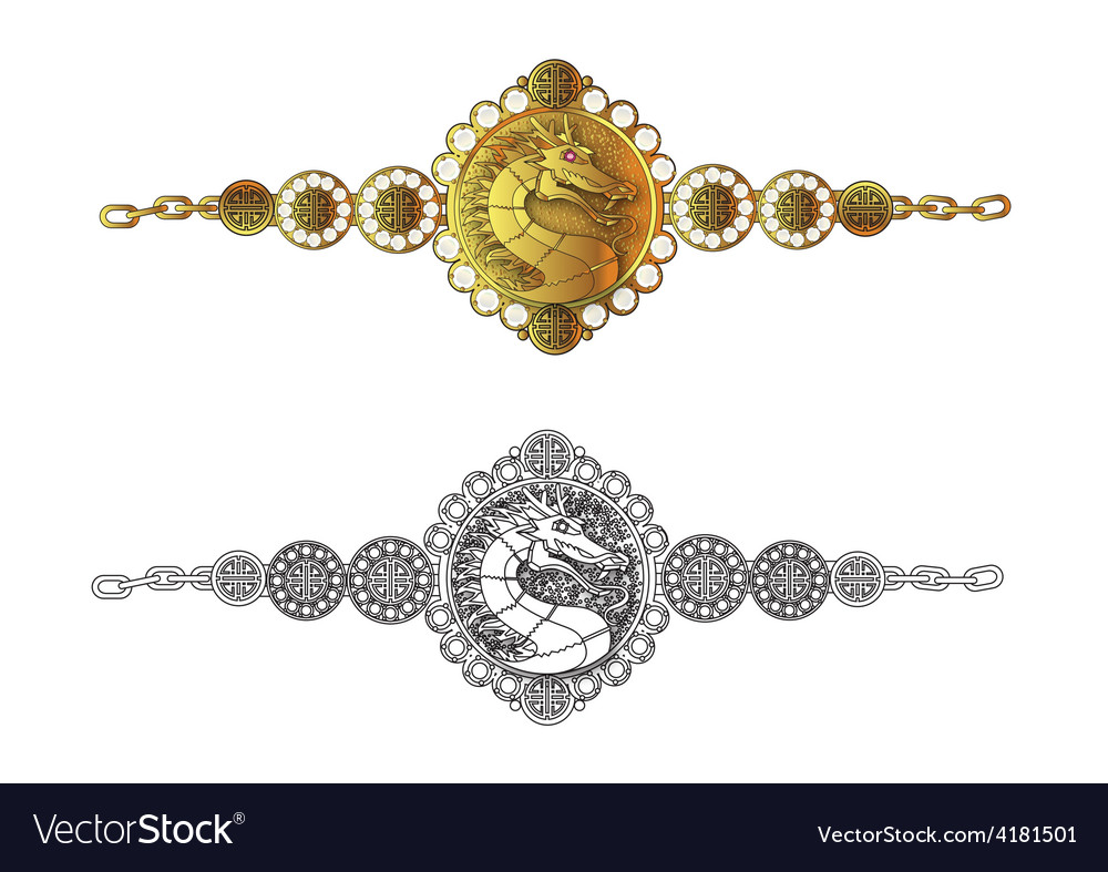 Dragon bracelet vector | Price: 1 Credit (USD $1)