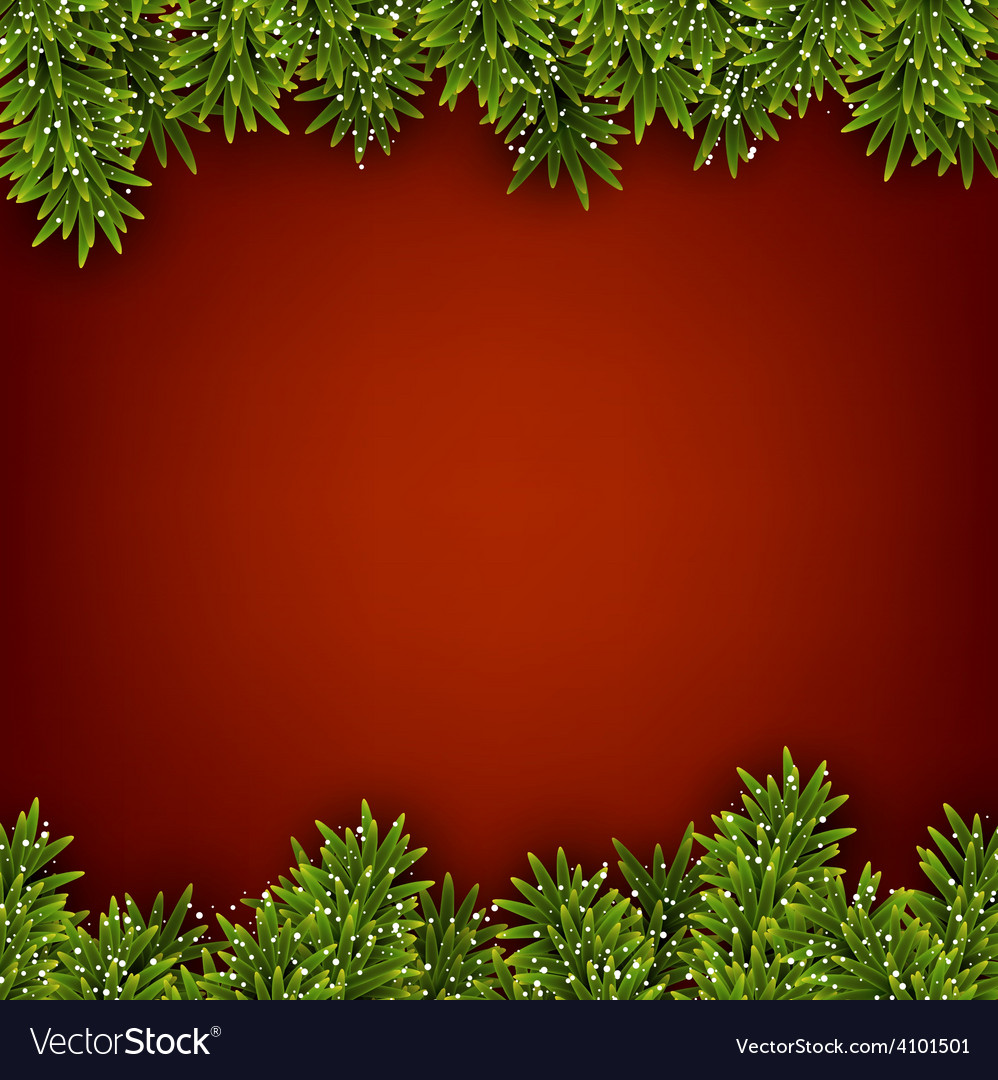 Fir red christmas frame vector   Price: 1 Credit (USD $1)
