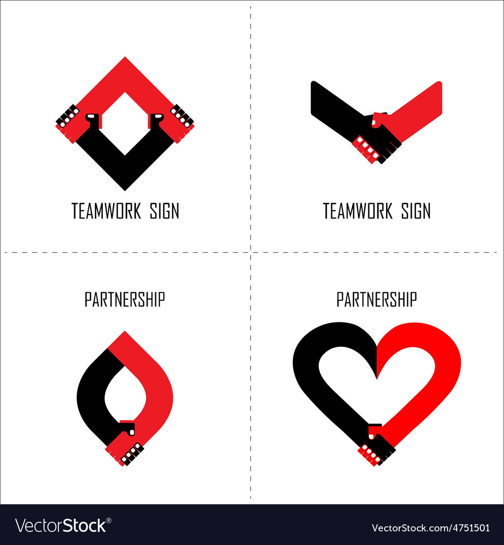 Handshake abstract logo design template vector | Price: 1 Credit (USD $1)