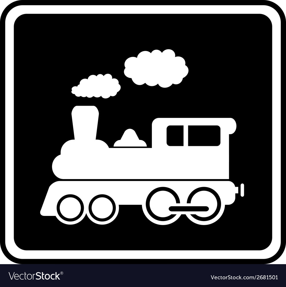 Isolated icon with white train vector | Price: 1 Credit (USD $1)
