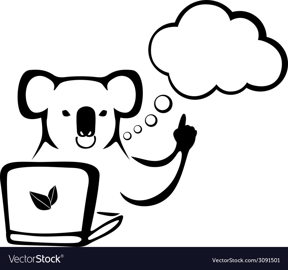 Koala speech vector | Price: 1 Credit (USD $1)