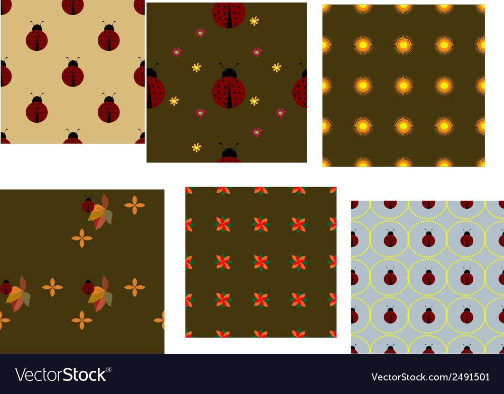 Ladybug pattern set vector   Price: 1 Credit (USD $1)