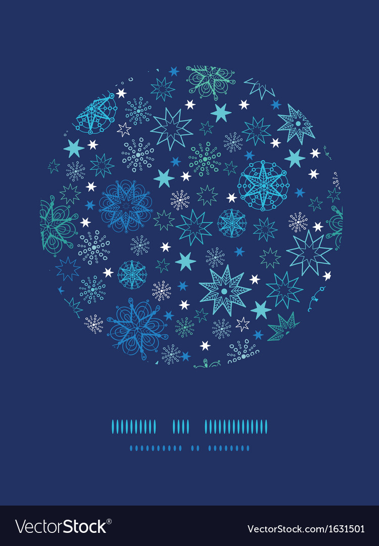 Night snowflakes circle decor pattern background vector | Price: 1 Credit (USD $1)
