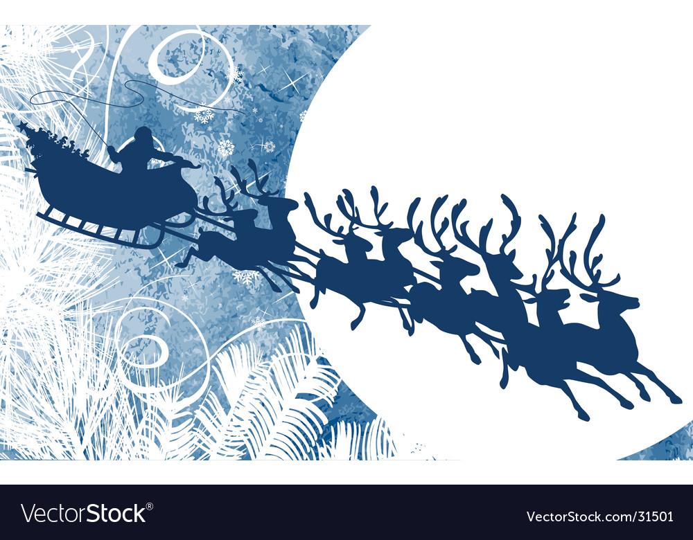Santa and moon vector | Price: 1 Credit (USD $1)