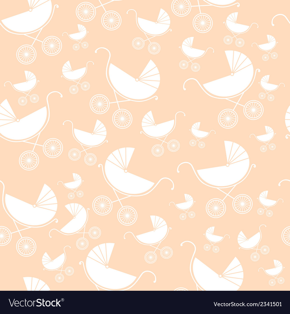 Seamless pattern of baby strollers vector | Price: 1 Credit (USD $1)