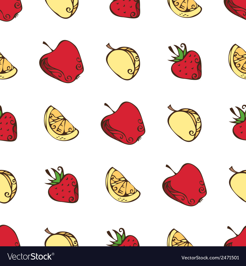 Seamless pattern of fruits vector | Price: 1 Credit (USD $1)