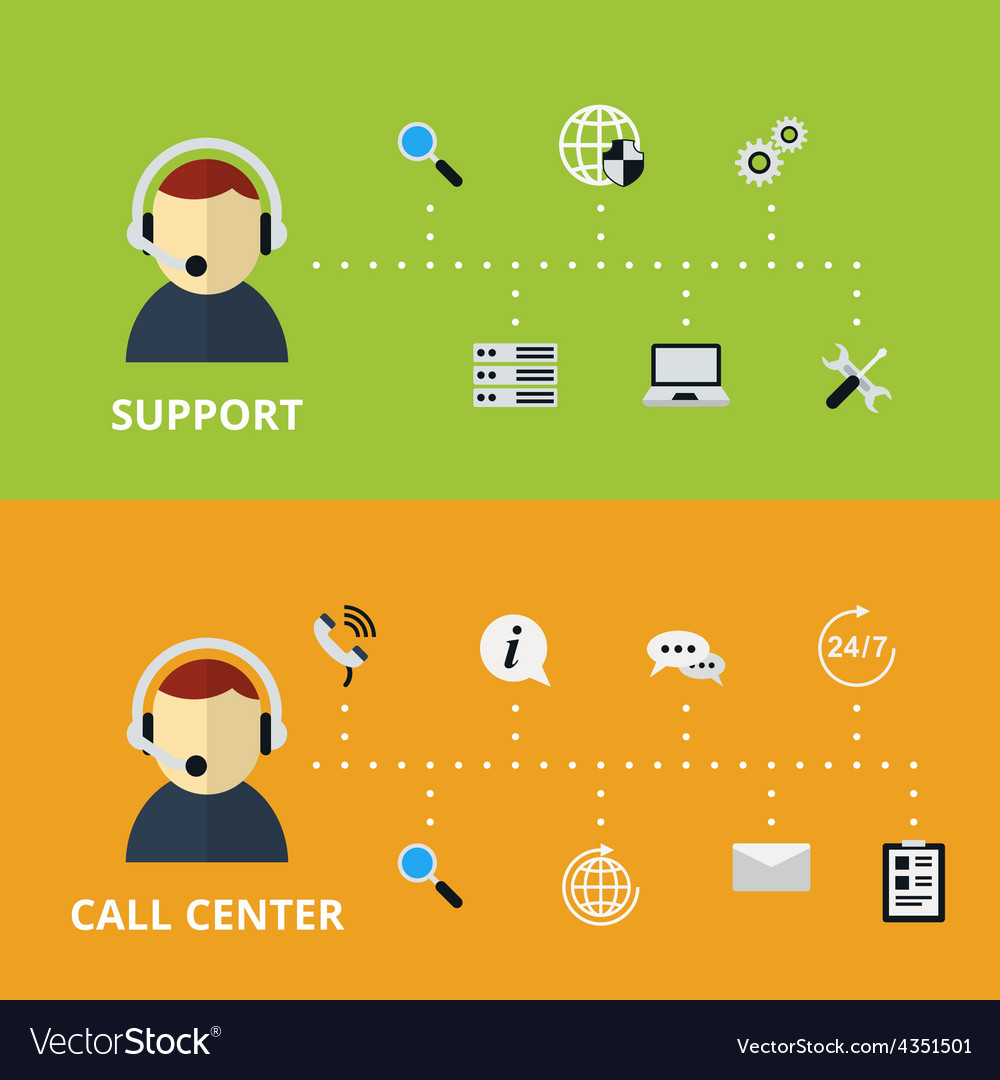 Support and call center concept vector | Price: 1 Credit (USD $1)