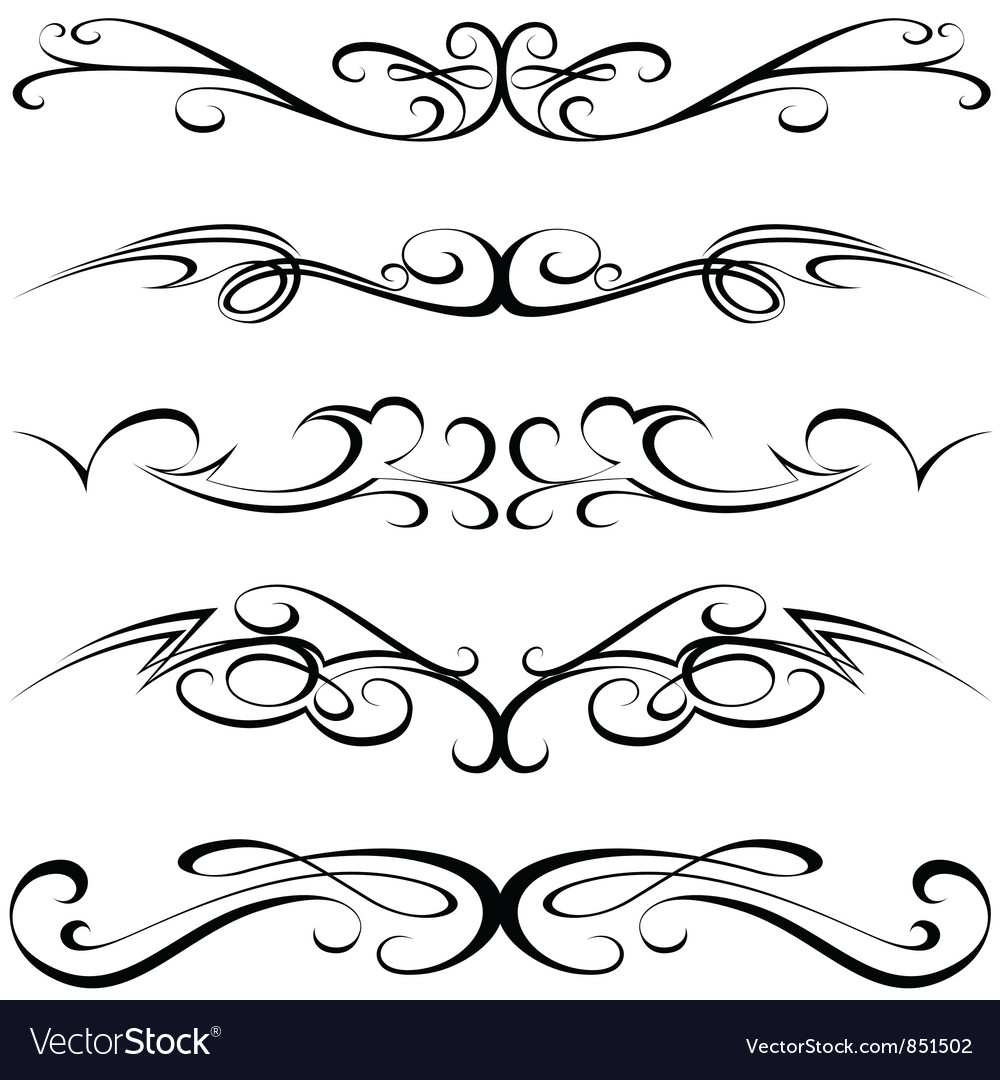 Calligraphic tattoo vector | Price: 1 Credit (USD $1)