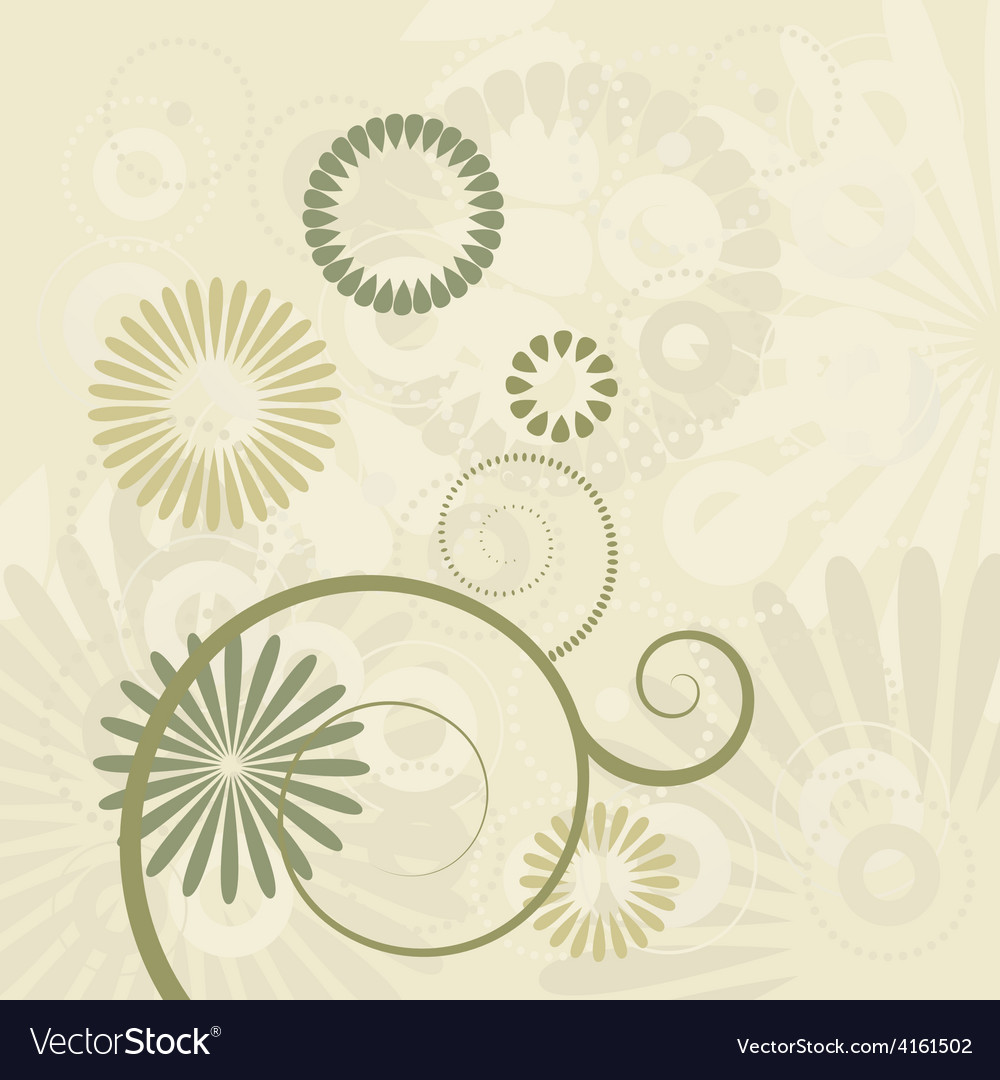Floral background ornament leaves vector | Price: 1 Credit (USD $1)