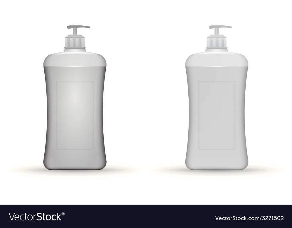 Gray dispenser pump bottles mock up vector | Price: 1 Credit (USD $1)
