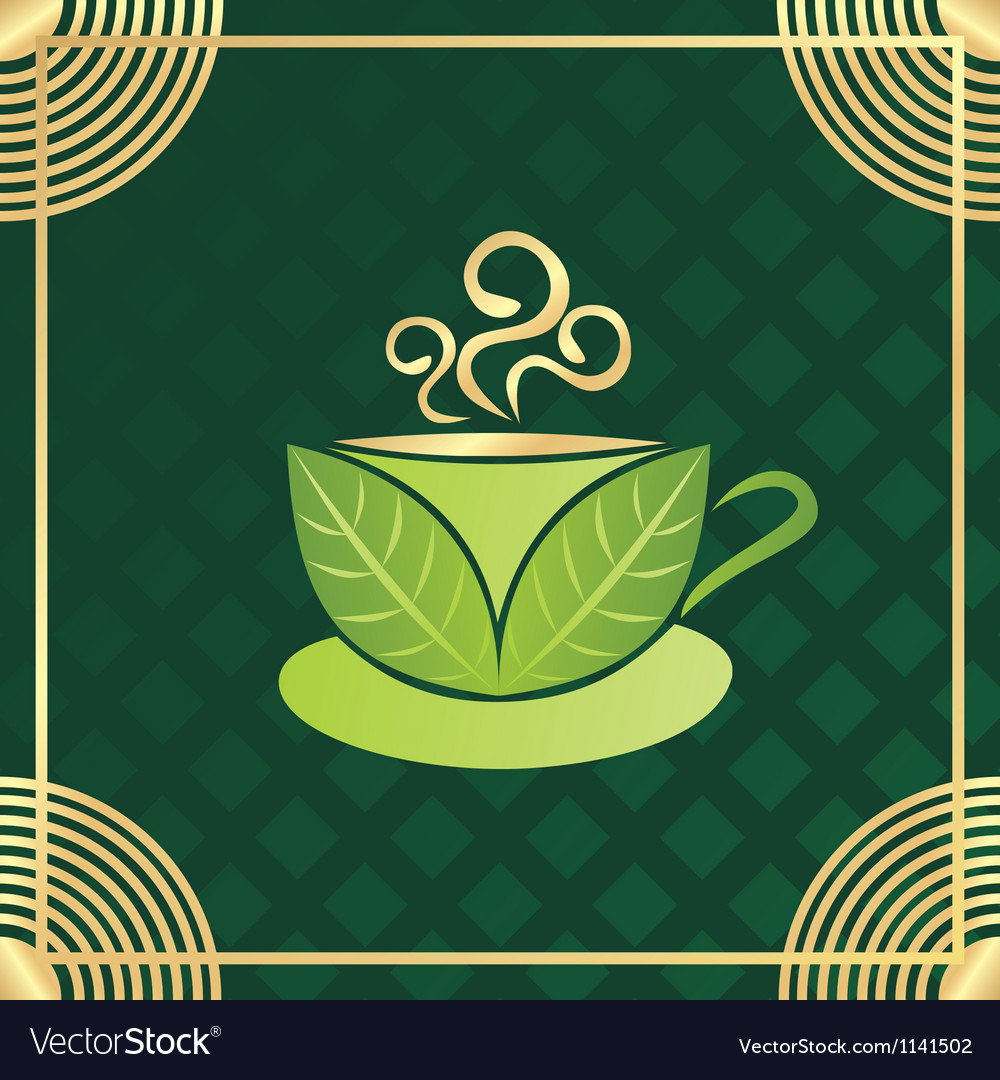 Green tea cup vector | Price: 1 Credit (USD $1)