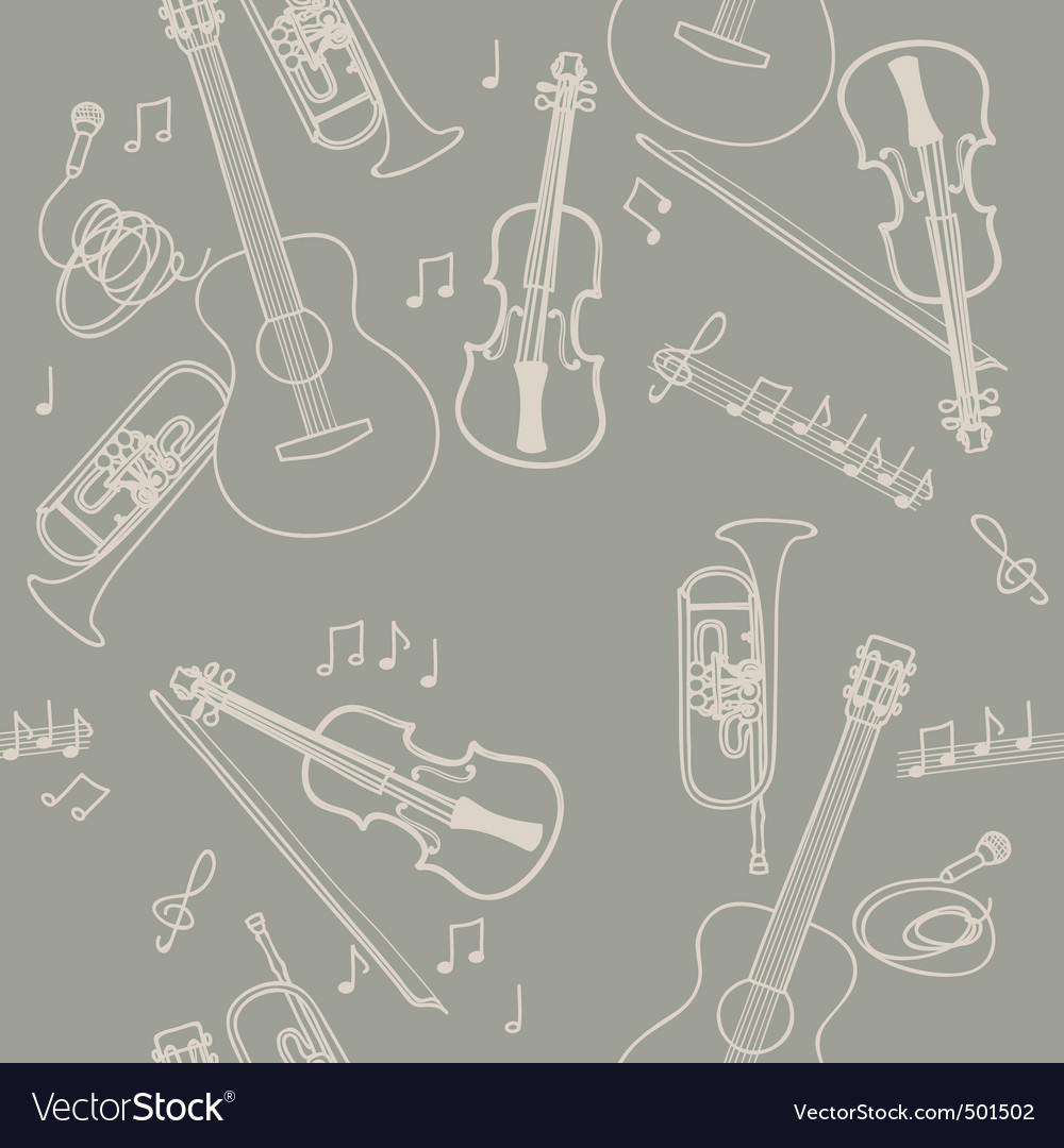 Jazz instruments pattern vector | Price: 1 Credit (USD $1)