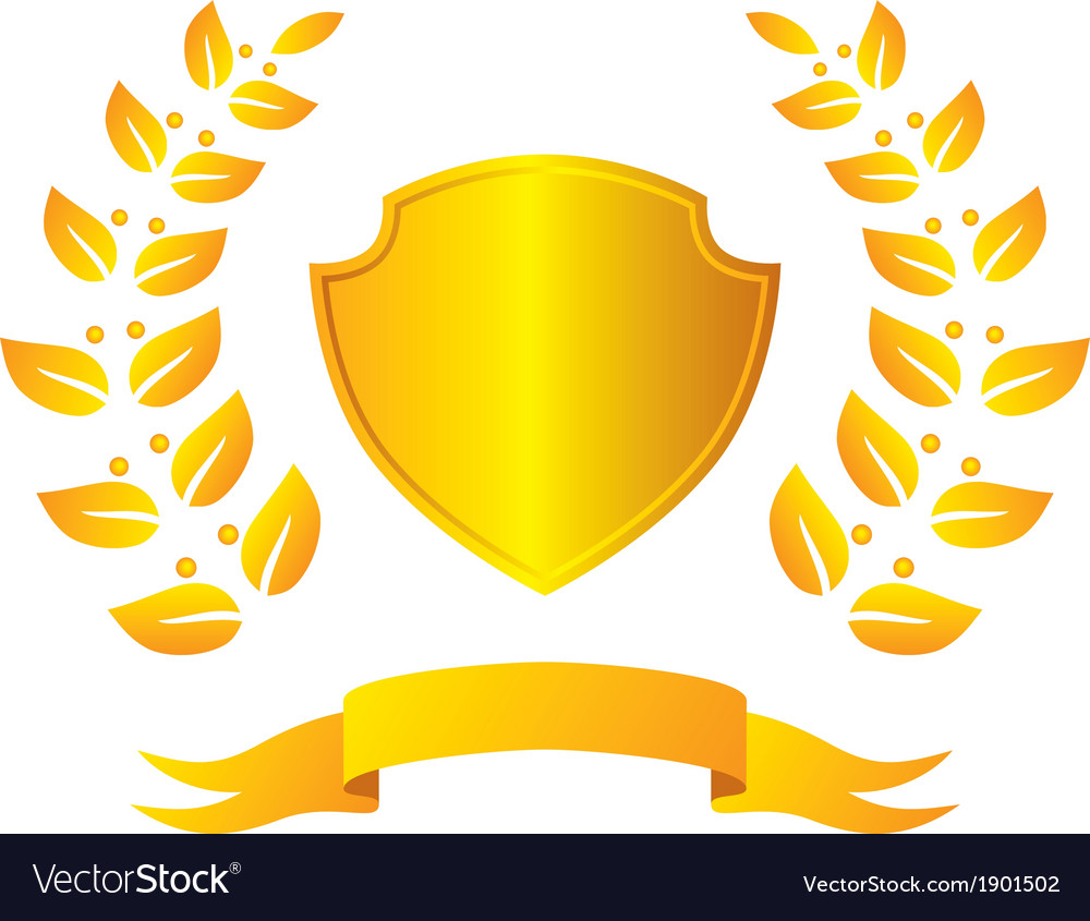 Laurel wreath and shield vector | Price: 1 Credit (USD $1)
