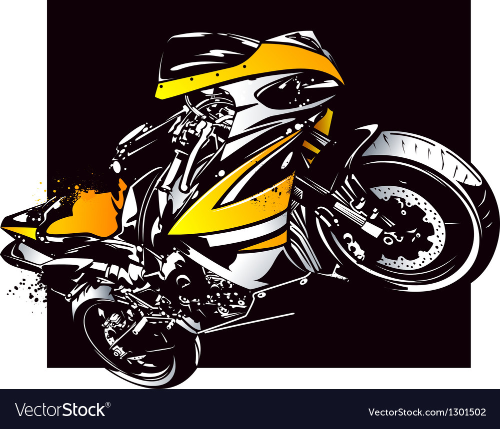 Motorcycle vector | Price: 1 Credit (USD $1)